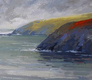 Barrie Bray Original Oil Painting Tregerthen Cliff Mussel Point Zennor Cornwall